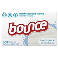 Bounce Free & Gentle Fabric Softener Sheets, 120 Count by Bounce