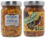 Trader Joes Corn and Chile Tomato-less Salsa and Cowboy Caviar Bundle. 1 Bottle of Each Flavor.