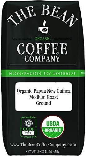 The Bean Coffee Company Organic Papua New Guinea Medium Roast Ground 16 Ounce Bag product image