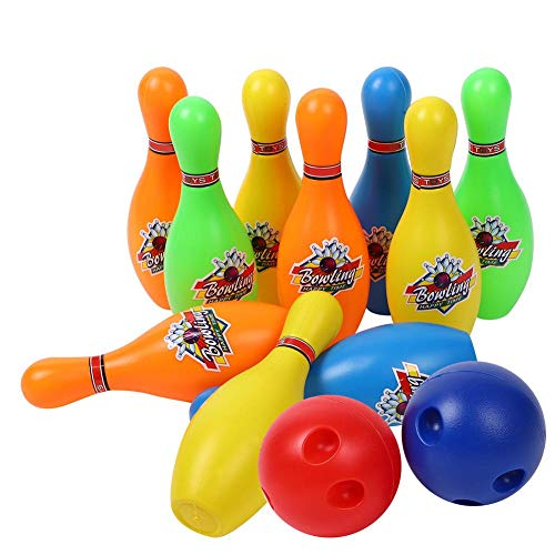VGEBY1 Kid Bowling Toy, Cute Bowling Pins Balls Game Set Skittles Toy per Bambini Piccoli (10 in)
