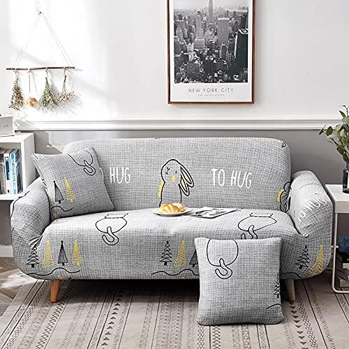 ASCV Graue Sofabezug mit hoher Dehnung, ultradünne universelle Ecksofabezug, Geteilte Sofabezug, Sofabezug für das Wohnzimmer A6 1-Sitzer
