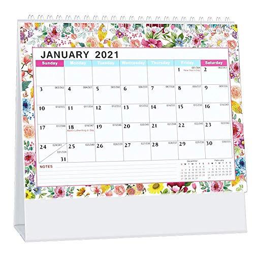 Whchiy Kleiner Schreibtischkalender 2021 8x6 in,Mini Akademisches Jahr Monatskalender 13 Monate Dez. 2020 -Dez. 2021