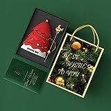 ZZRR Caja de Regalo Creativa, árbol de Navidad con Tapa, Cuchara, Taza de café, Taza de cerámica de 15.5 oz, Adecuada para café con Leche, se Puede Usar para Regalos o Uso Personal