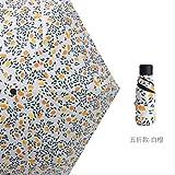 RRWL Paraguas Mini Paraguas pequeño Bolsillo Transparente Paraguas Anti-UV A Prueba de Viento Cinco Paraguas Plegables Lluvia compacta Paraguas para niñosVioleta aPrueba de Lluvia