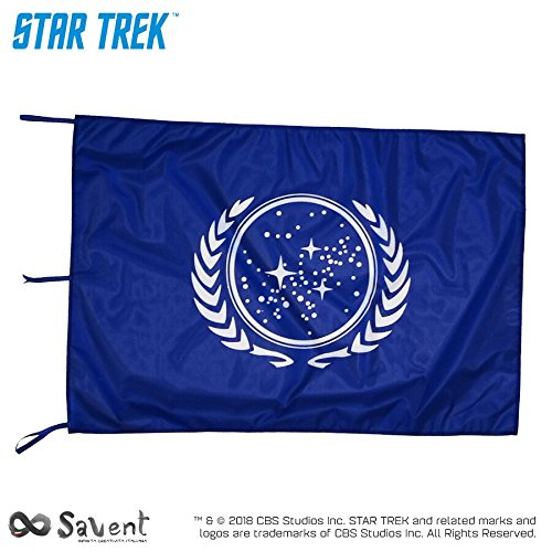 Savent Star Trek Flagge Offizielle CBS–United Federation of Planets Blue