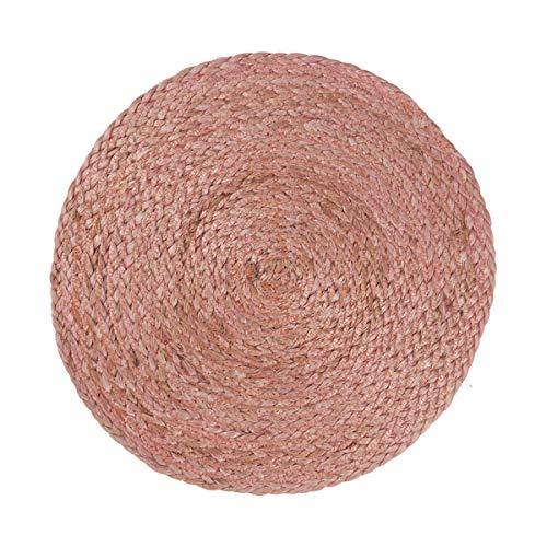 IB Laursen Platzdecke geflochten rund Malva Pink Jute 35 cm - Tischset - Platzset - hitzebeständig - für Esstisch