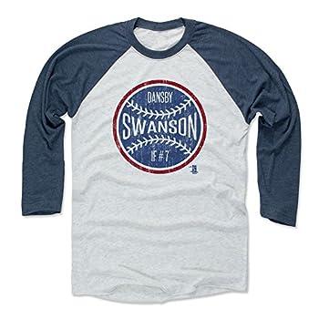 500 LEVEL Dansby Swanson Tee Shirt  Baseball Tee Medium Indigo/Ash  - Dansby Swanson Ball B