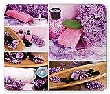 Spa Mouse Pad, Aromatisches Spa mit lila Blütenblättern Frische Therapieöle Badesalz Seife Relax...