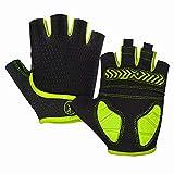 MOREOK Mens Cycling Gloves,Half Finger Biking Glove MTB DH Road...