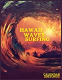 HAWAII WAVES SURFING CALENDAR 2022  2023: sea beach big waves monthly calendar 2022 size 8.5x11 inch with high quality images glossy gift for everyone.