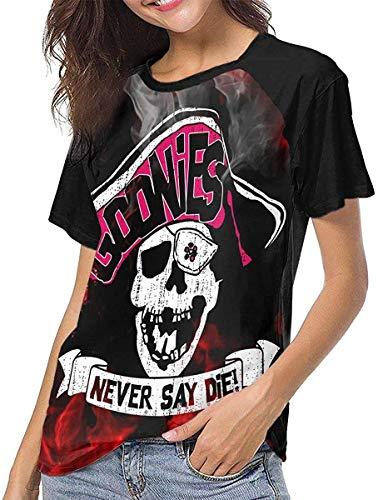 Goonies Never Say Die Camiseta de Manga Corta de béisbol