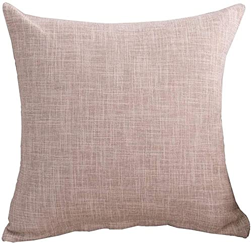 ADIS 1 funda de cojín de lino pesado de 45 cm x 45 cm de algodón, funda de cojín decorativa para sofá, silla, coche, color beige