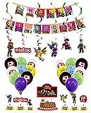 smileh Decoracion Cumpleaños Roblox Globos Pancarta de Feliz Cumpleaños Tarta Decoracion Colgando Remolinos Decoraciones Gamer Cumpleaños Decoración