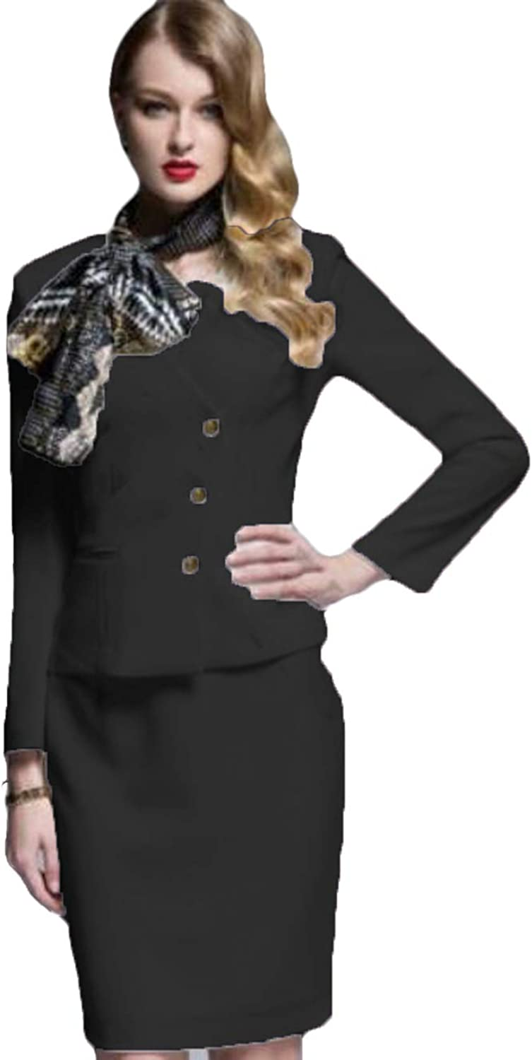 WZW Women's Business Suits Long Sleeve Formal Skirt Suits OL Female Formal Suits