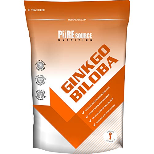 Pure Source Nutrition Ginkgo Biloba Tablets 6000mg | Supports Circulation and Mental Performance | Vegan & Vegetarian Friendly | Manufactured in The UK (120 Tablets)
