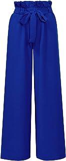 Xintianji High Waist Wide Leg Pant with Belt for Women Girls