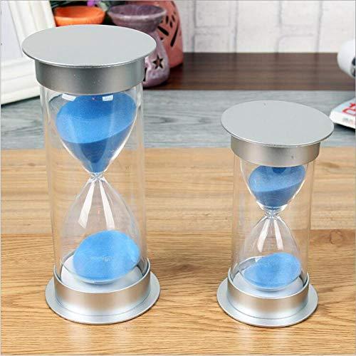 FISH4 5 10 15 20 25 30 40 45 60 Minutos Reloj de Arena sin Romper Temporizador Decoración de Regalo A111, Verde, 25 Minutos