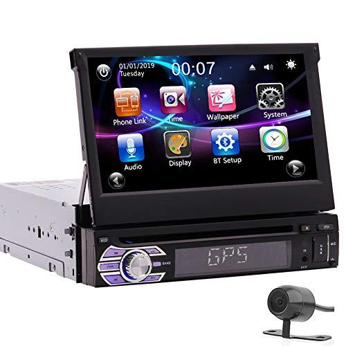 7inch Abnehmbare kapazitiver Touch Screen Auto DVD Spieler 1Din Autoradio GPS System in der Schlag Head Unit Bluetooth Freisprecheinrichtung Autoradio FM AM RDS Receiver Spiegel mit Backup Kamera