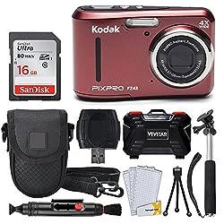 professional Kodak PIXPRO FZ43 16.15MP Digital Camera (with 4x Optical Zoom) + SanDisk 16 GB Ultra SDHC 80 MB / s…