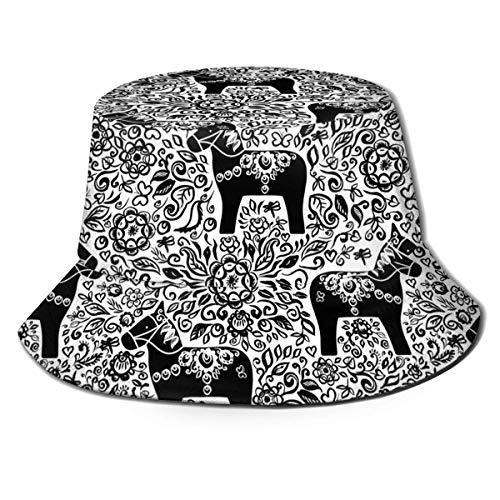 Not Applicable Strandhut Estatuilla De Caballo De Madera Tradicional para Hombre Tendencias para Mujer Sombrero De Cubo De Moda