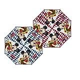 ARDITEX Parapluie Cloche Pour Enfant Sous Licence Mickey Mouse En Eva Transparent 48Cm 2 Assortis Paraguas clásico, 70 cm, Rojo (Rouge Ou Bleu)