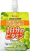 ハウスウェルネス PERFECT VITAMIN 1日分のビタミンゼリー マスカット味 180gパウチ×24本入×3ケース(72本)