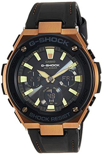 Casio Men's G Shock GSTS120L-1A Black Leather Quartz Dress Watch