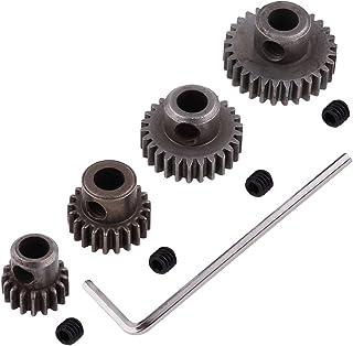 Hobbypark Steel Metal Mod 0.6 Module Pinion Gear Set Motor Gears 5mm Shaft Hole 17T 21T 26T 29T for RC Cars Trucks Crawler...