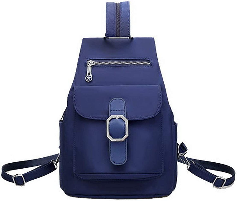 AmoonyFashion Women's Shoulder Bags Zippers Shopping Nylon Crossbody Bags,BUTBS182384,bluee