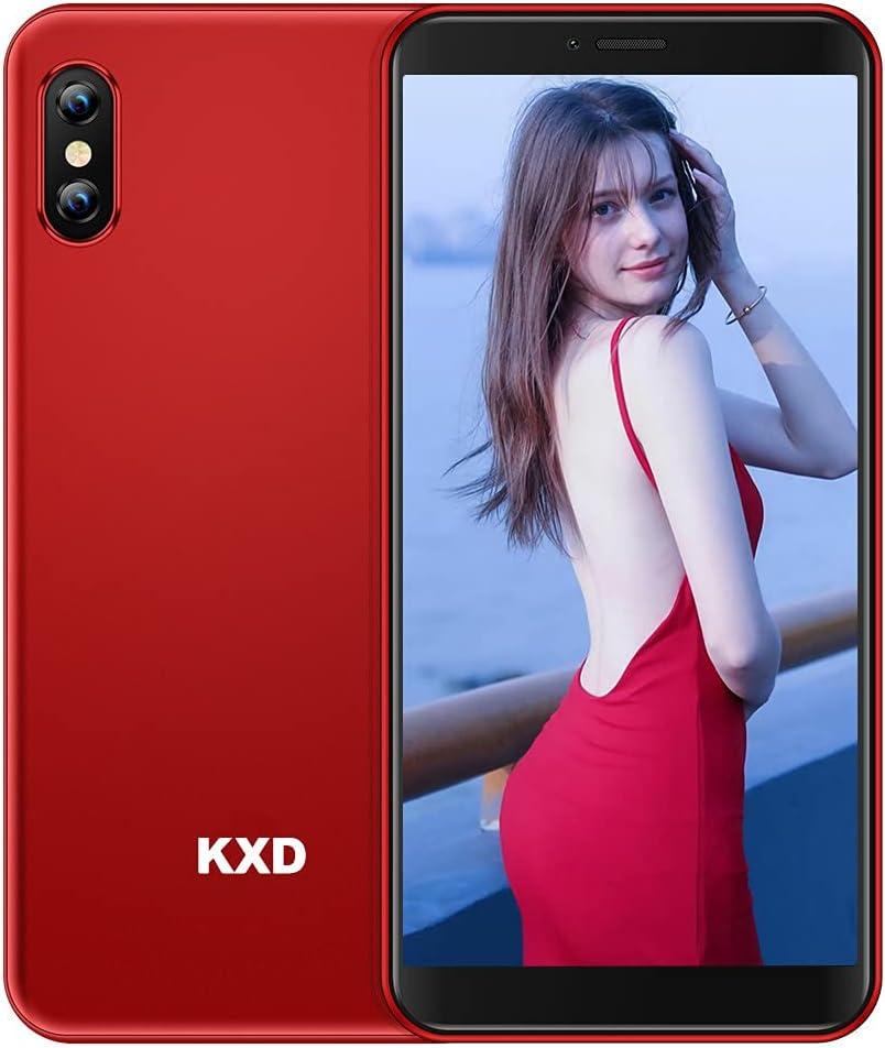Mobile Phone KXD 6C Unlocked Smartphone SIM Free, Cheap 4G Android Smart Phone, 5.5'' Full-Screen, 16GB ROM, Face ID, 2,500mAh Battery, Triple Camera, Dual SIM