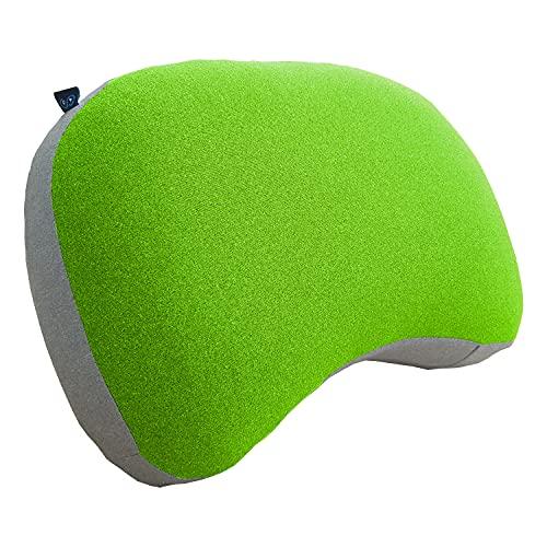 Journext Cojines inflables de Camping y Cojines de Viaje - Superficie Suave, compactos y Ligeros - para Playa, Viaje, Exterior (Green)