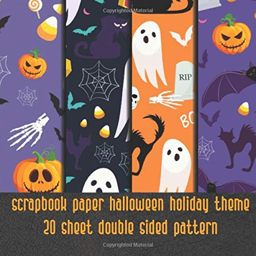 bat boo pumpkin halloween scrapbook paper 20 sheet double sided pattern: scrary ephemera paper for scrapbooking - sdecorative speciality pattern paper ... & decoupage & collage & invitation making