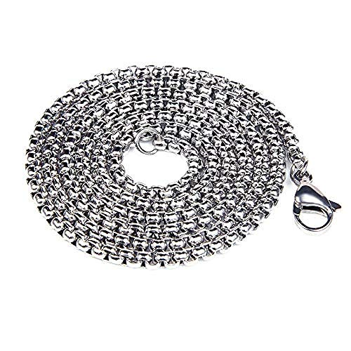 NC110 Necklace Stainless Titanium Steel Gothic Funky Fantastic Eyes Pendant Necklace Punk Hiphop Choker Chain For Men Jewelry Gift-80cm_chain