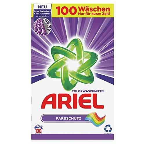 Ariel Waschmittel Pulver, Waschpulver, Color Waschmittel, Farbschutz, 100 Waschladungen (6.5 kg)