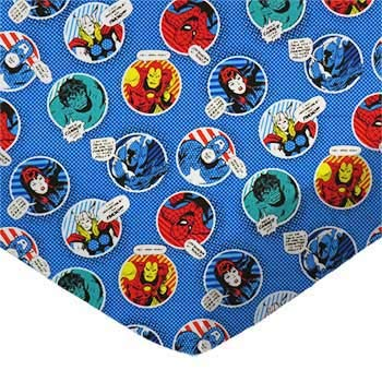 Review SheetWorld Fitted 100% Cotton Percale Portable Mini Crib Sheet 24 x 38, Marvel Comics Blue Ci...