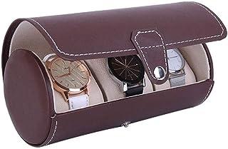 HEMFV Watch Box PU Leather Wristwatch Display Case Portable Organizer for Men Women Traveling Gift Bracelet Watch Jewelry Box