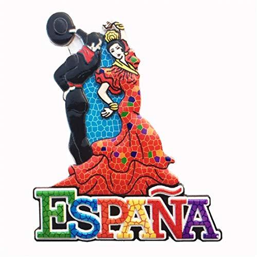 Weekino Souvenir Bailarina de Flamenco Barcelona España Imán de Nevera Resina 3D...