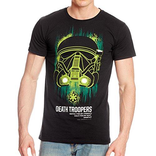 Maglietta Star Wars - Death Trooper Neon tratta da Rogue One - di Elbenwald - cotone - nera - XXL