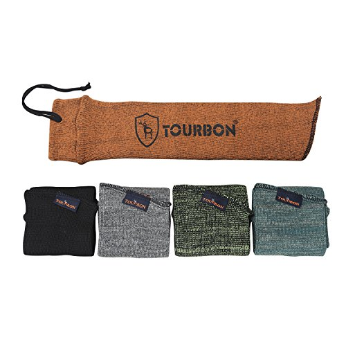 Tourbon Silikon Öl behandelt Sack Aufbewahrung Pistole Socke Pistolen Fall Sleeve 38,1 cm (5 Stück)