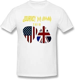Tour Journey 2018 Def Leppard Ori Gembok Cool Print Design Men's Ideal Short Sleeve T Shirt