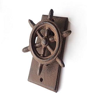 Aro de la puerta del aparador de armario retro Estilo antiguo volante volante de hierro fundido decorativo puerta Knocker...
