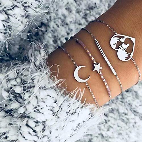 Bracelet Frauen Armbänder Golden Oval Sun Pattern Weiße Perle Quaste Disc Anhänger Offenes Armband 40