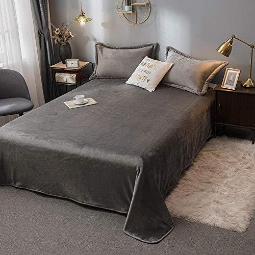 Eastbride Mantas para sofás acogedora y Ligera,New Milk Velvet Home Study Cover Blanket-Dark Grey_100 * 120,Sábanas cálidas para sofá