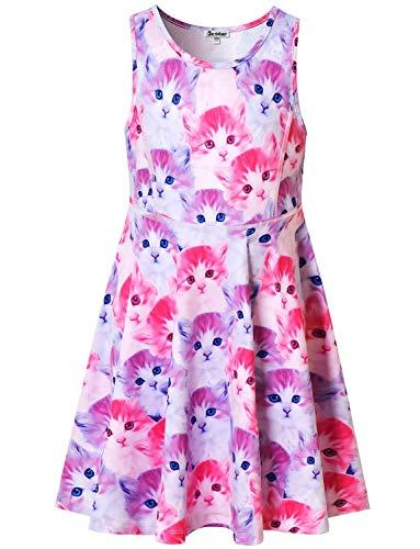 Cat Dresses for Girls 5t Sleeveless Summer Clothes Swing Animal Kitty Costume