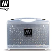 Vallejo Game Air Plastic Case 51 Colours, 8 primers, 5 Auxiliary, Airbrush Cleaner - Miniatures