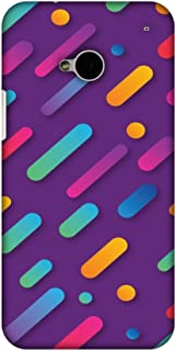 AMZER Slim Fit Handcrafted Designer Printed Hard Shell Case Back Cover for HTC One M7 - It's Raining Gradients!