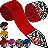 RDX Bande De Boxe, Bandage De 4,5 Mètres, avec Élastique pour Le Pouce, sous-Mitaines, Protection du Poignet Et De La Main,...