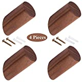 LWZko 4 Piezas Percha Pared Madera, Perchero Pared Natural, Ganchos para Sombrero Madera, ...