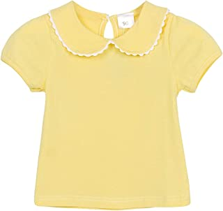 AmzBarley Baby Girl Clothes Short-Sleeve Printing/Solid Color Basic Bottoming T-shirt Tops Kids Summer Outfit