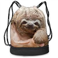 ジムサック ナップサック スポーツバッグ ナマケモノすてきな笑顔 手提げポーチ 巾着袋 おしゃれバッグ アウトドア 旅行 登山 遠足用